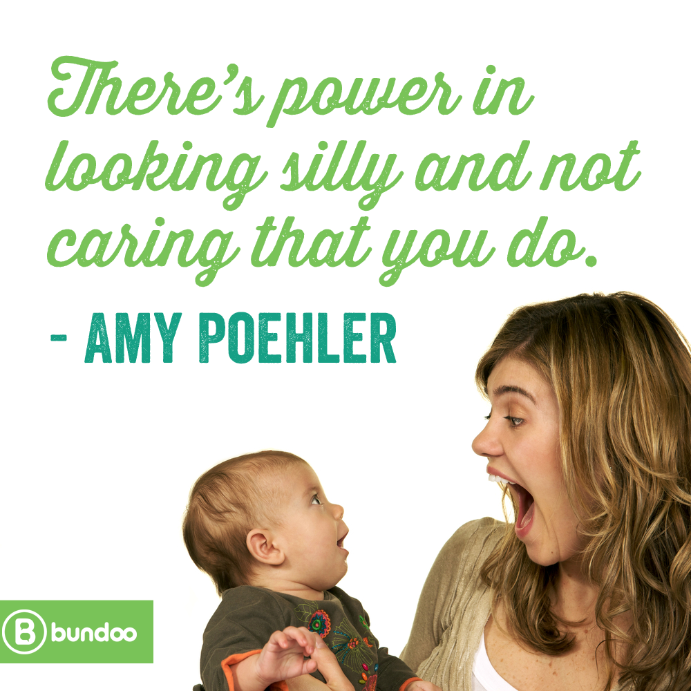 Amy Poehler parenting silly