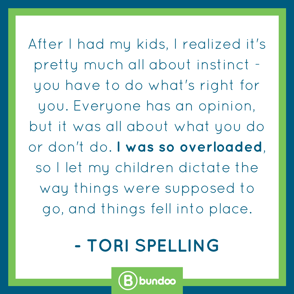 Tori Spelling let your kids dictate