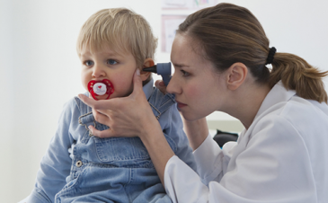My child has an ear infection. Will his eardrum rupture?