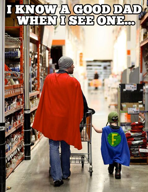 Good dad superhero