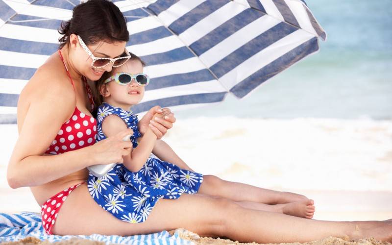 How to treat sunburns in children