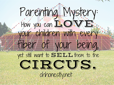 sell your kids to the circus