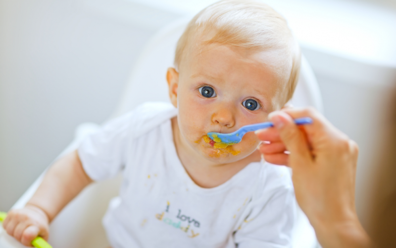 Don't forget iron when introducing solid food to your baby