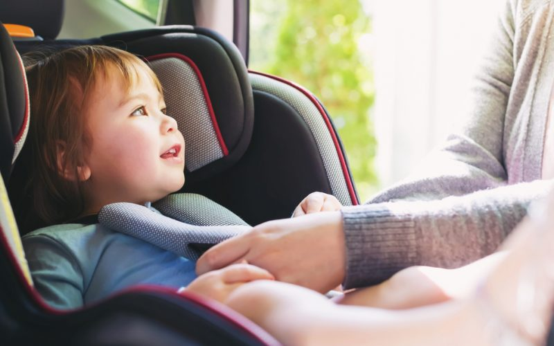 When do we turn our baby from rear-facing to forward-facing in their car seat?