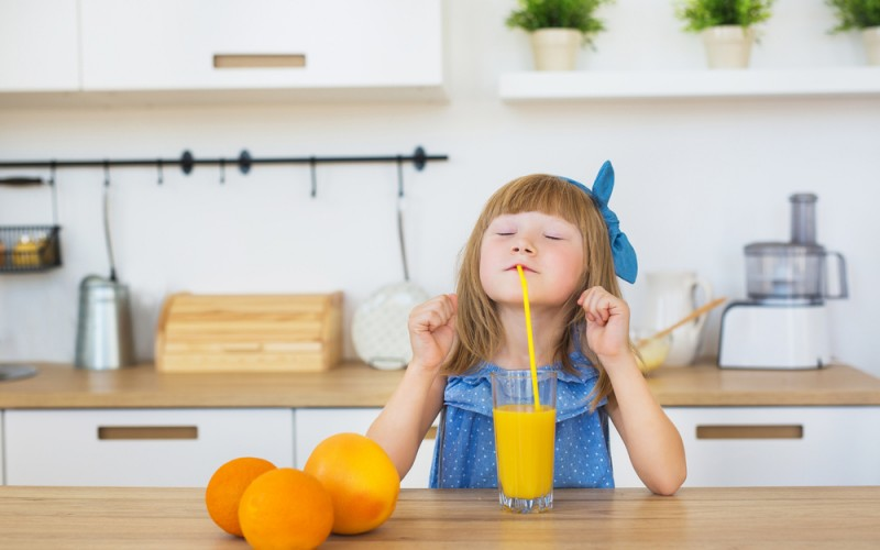 No juice for you! AAP recommends against fruit juice for infants.